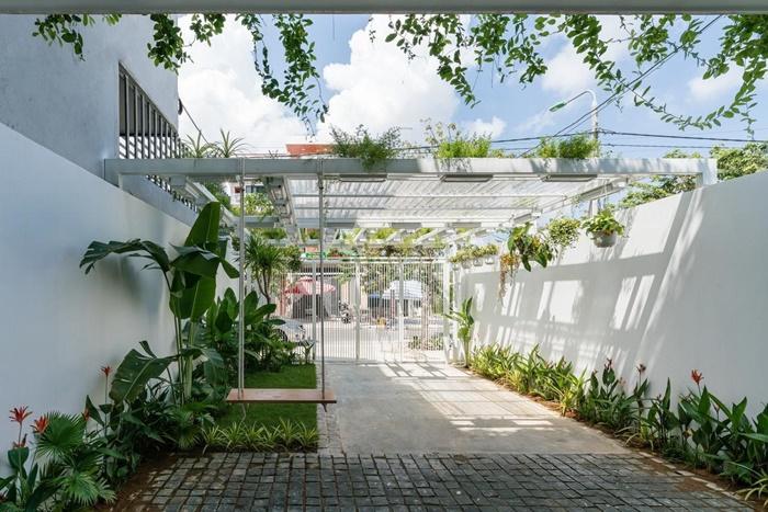 Mẫu vườn mang phong cách hiện đại