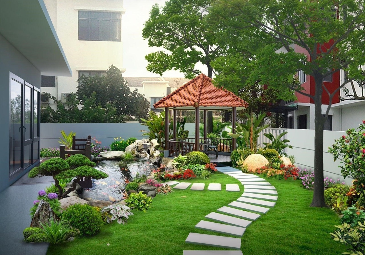 Hướng nhà là yếu tố quan trọng khi sắp xếp cây cảnh trong vườn