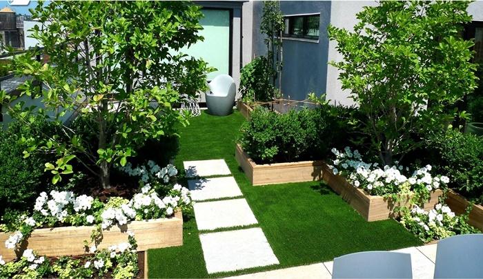 Mẫu vườn có thể dùng trên sân thượng